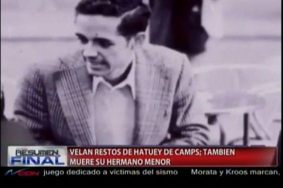 Personalidades De La Política Dominicana Dan El Último Adiós Al Líder Hatuey De Camps