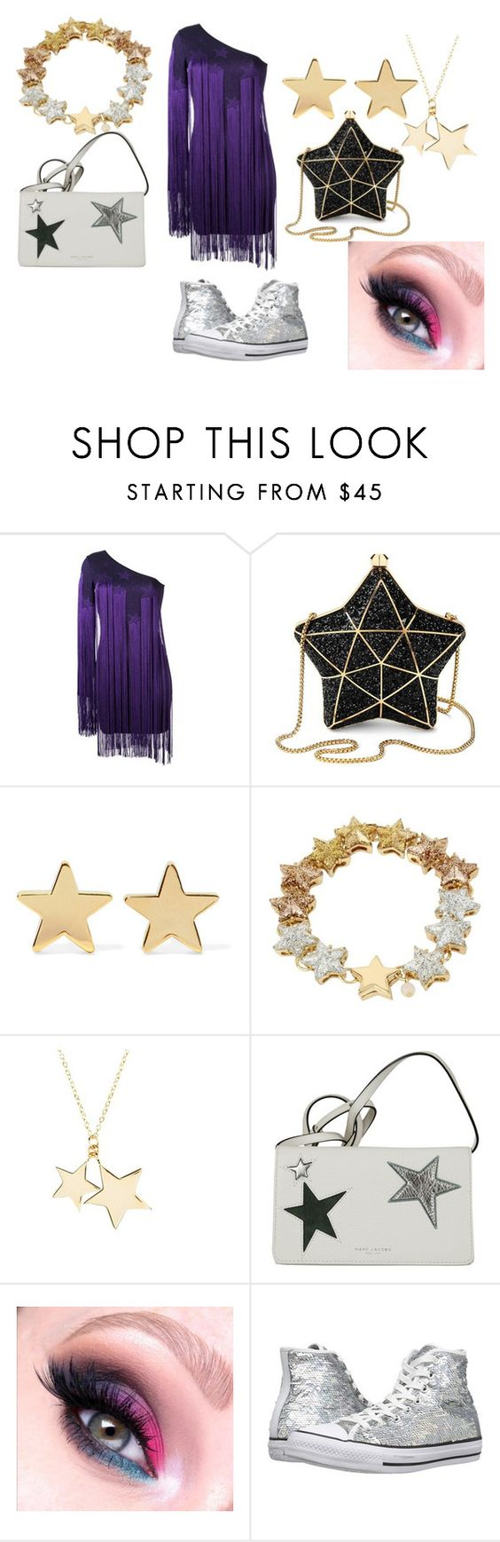 """StarBright"" by summersnow-975 ❤ liked on Polyvore featuring Roberto Cavalli, Aspinal of London, Jennifer Meyer Jewelry, Betsey Johnson, Latelita, Marc Jacobs and Converse"
