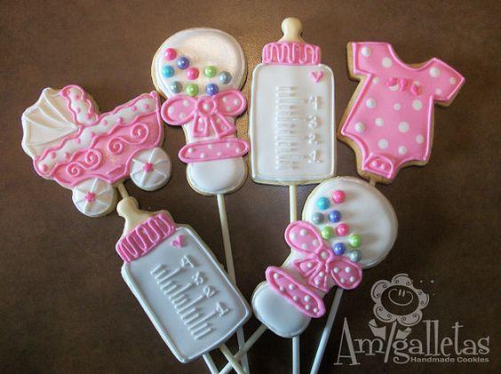 Baby Shower Cookies 1 dozen by Amigalletas on Etsy