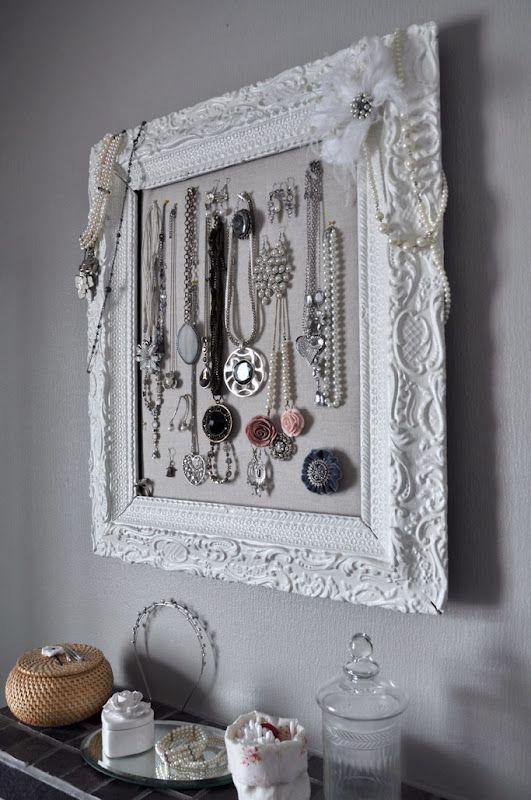 Cool frame+jewellery=awesome jewellery organizer