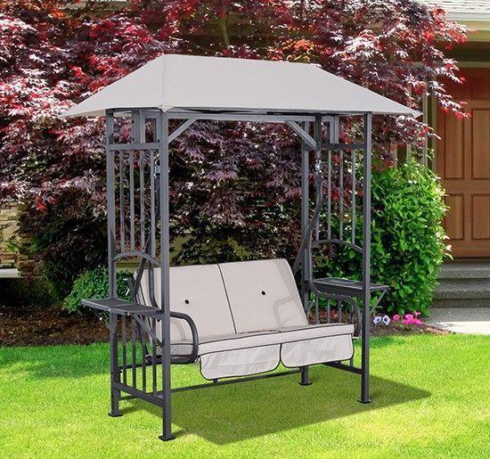 Garden Swing Chair 2 Seater Steel Frame