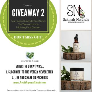 Healthy Muslimah Launch Giveaway 2 – Sakinah Naturals