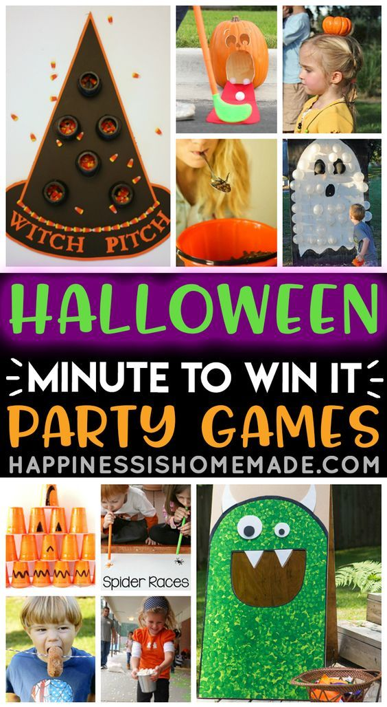 Best Halloween Races 2020 Minute to Win It Halloween Games in 2020 | Fun halloween party