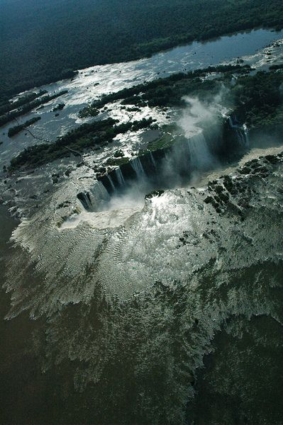 h4ilstorm: Brazil - Iguazú Falls viewed from a helicopter (late afternoon) (by flickfischer)