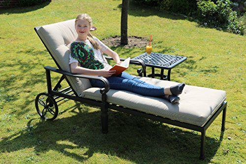 Gartenliege Lxbxh 215 X 80 X 56 Cm Liegeflache Hohe Ca 40 Cm Armlehnen Hohe 56 Cm Gewicht Ca 10 Kg Material Solide Sun Lounger Park Bench Outdoor