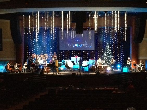 Christmas, Hanging Lights | Stage Design | Pinterest | Hanging