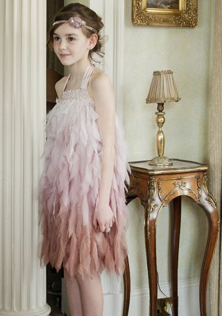 Loving the luxurious new collection of girls' dresses at Damselfly this season!