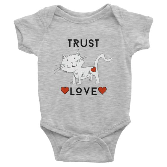 Trust Love Cat one-piece