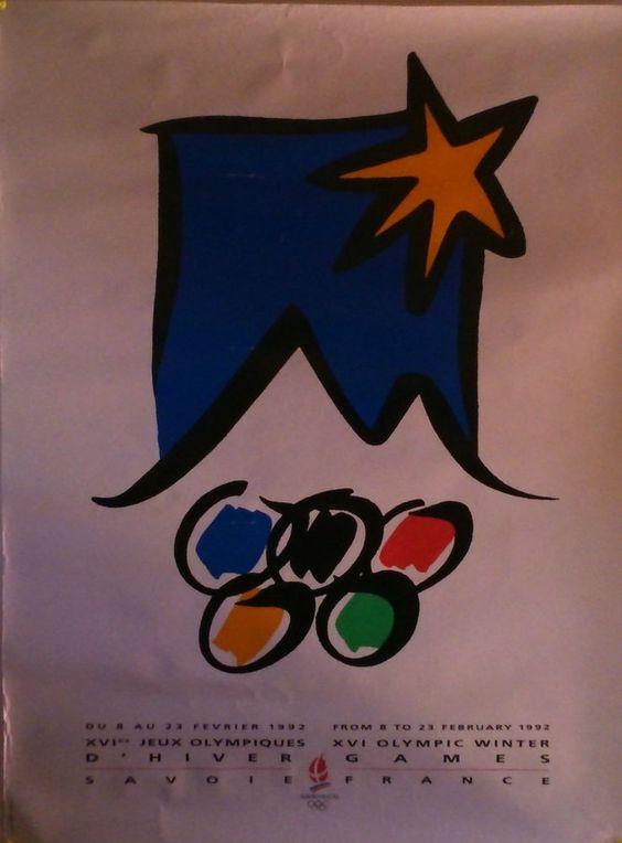 RARE Affiche Les Editions André XVIes Jeux Olympiques D Hiver ALBERTVILLE 1992