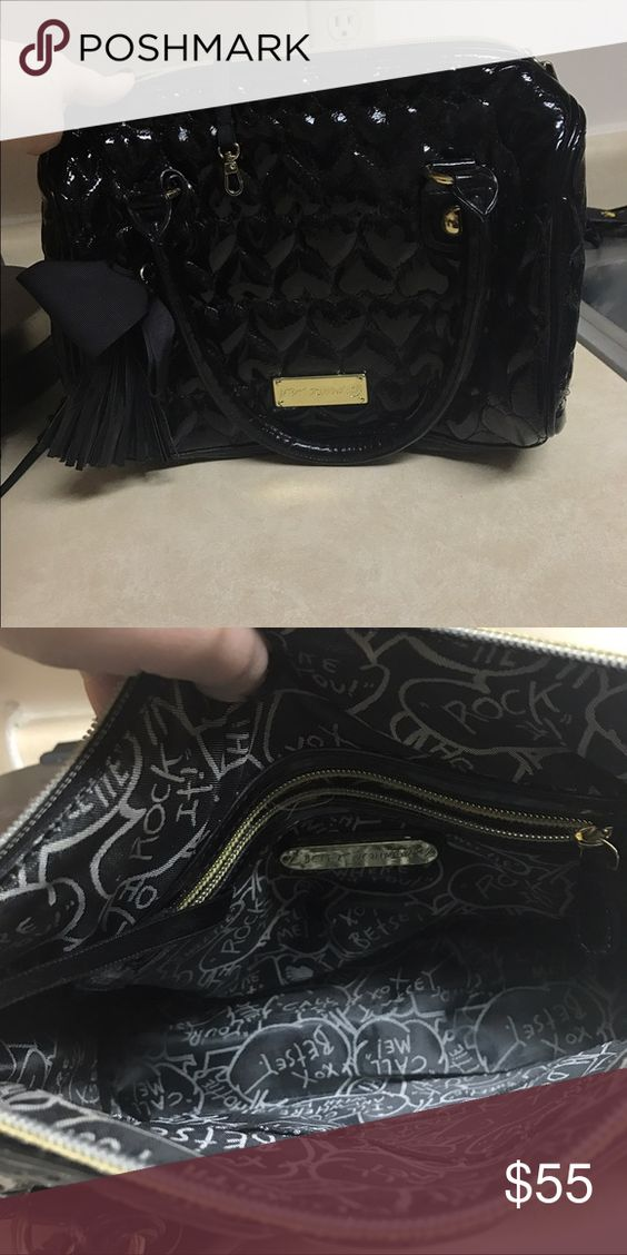 Betsey Johnson Handbag Black. Used. In good condition! Betsey Johnson Bags Totes