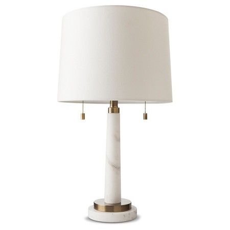 Franklin Table Lamp Marble Includes Cfl Bulb Threshold Target For The Home