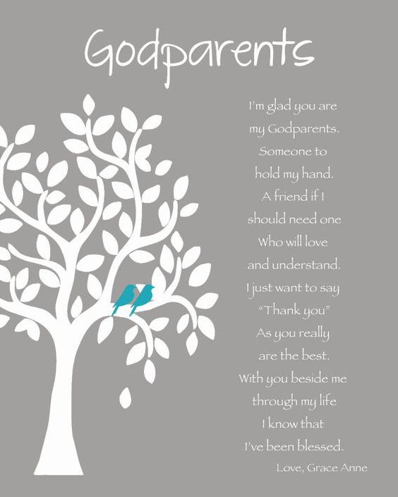 GODPARENTS personalized gift Custom Gift by KreationsbyMarilyn
