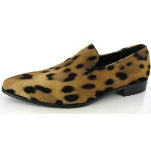Donald J Pliner Mens Clark Panther Hair Loafers Shoes (Apparel)