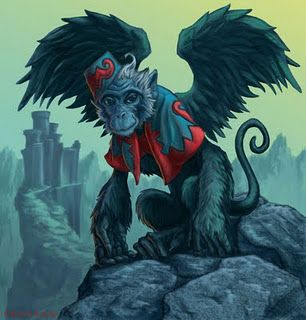*WIZARD OF OZ ~ Flying monkeys... scariest movie I ever saw...and it was made for kids!!!!