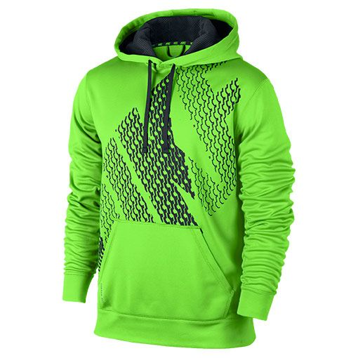Men's Nike KO Block Pullover Hoodie | FinishLine.com | Flash Lime ...