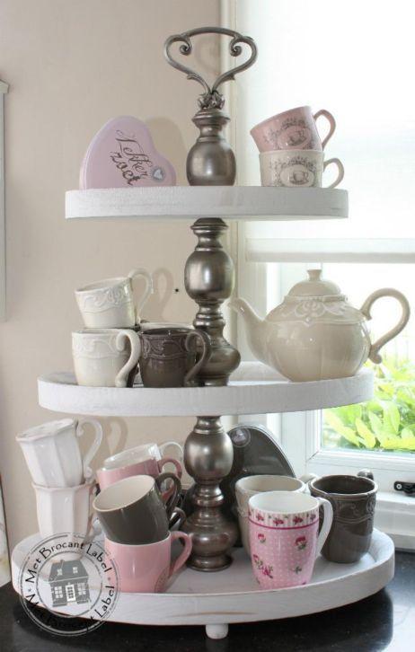 Leuke etagere voor op de eettafel leenbakker interieur pinterest bruin thuis en roze - Keuken decoratie ideeen ...