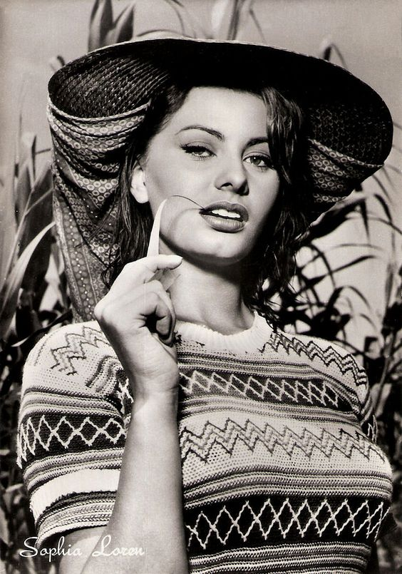 Italian postcard by Rotalfoto, Milano, no. 328. Photo: Ponti-De Laurentiis. Publicity still for La donna del fiume/Woman of the River (Mario Soldati, 1954).  Academy Award-winning film actress Sophia Loren (1934) rose to fame in post-war Italy as a voluptuous sex goddess. She became one of the most successful international stars of the 20th Century and is still a major sex symbol.  For more postcards, a bio and clips check out our blog European Film Star Postcards or follow us at Tumblr.