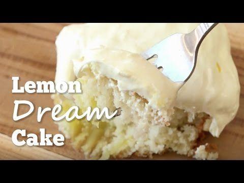 LEMON DREAM CAKE. http://www.thecountrycook.net/2012/07/lemon-dream-cake.html