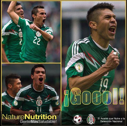 #mexico #nz #contigosiempre Los autores de los goles.