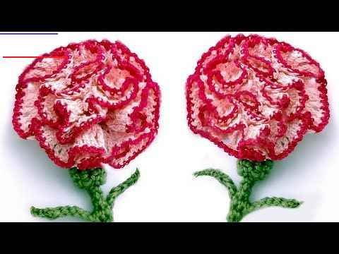 Crochet Carnation Flower Very Easy Tutorial English Subtitles Crochetflowers In 2020 Crochet Flower Tutorial Crochet Flowers Free Pattern Crochet Flowers