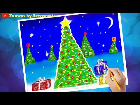 Draw Christmas Tree Illustration Youtube Tree Illustration Christmas Tree Drawing Christmas Tree Farm