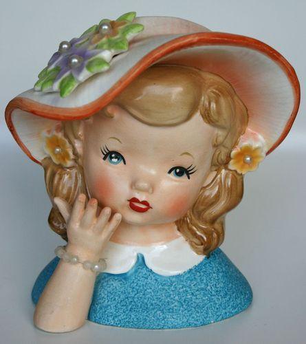 Vintage Head Vase Vase Doll Heads Pinterest Nice Lady And Vintage