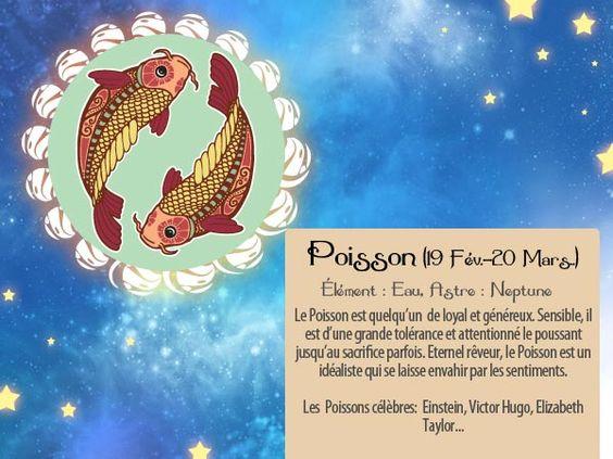 Comme Einstein et Victor Hugo, un de vos amis est un Poisson ? Alors faites-lui savoir en envoyant cette carte horoscope via http://www.starbox.com/carte-virtuelle/carte-horoscope/carte-horoscope-poisson, c'est gratuit !