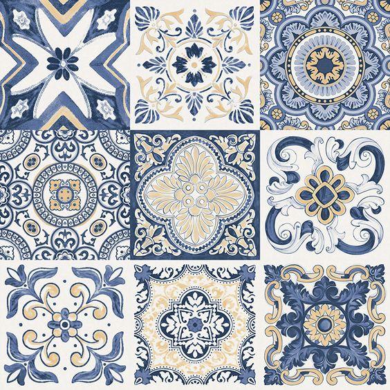 Desenhos originais dos antigos azulejos portugueses da for Azulejos de ceramica