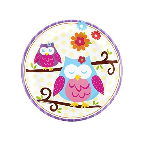 Owl Blossom Party Supplies - Dessert Plates (8) >>> Review more details…