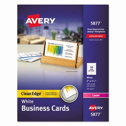 Avery 8875 Business Cards Templates Luxury Avery 5877 Clean Edge Laser Business Cards 2 X 3 In 2020 Avery Business Cards Printable Business Cards Avery Printable