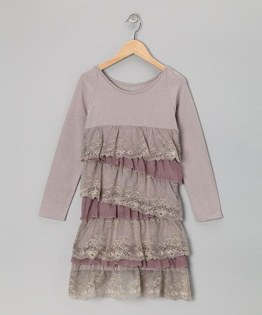 Take a look at this Pink & Lavender Ruffle Tiered Dress by Limeapple on #zulily today!