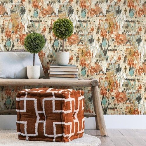 Aztec Peel And Stick Single Roll Wallpaper Lelands Wallpaper Peel And Stick Wallpaper Wallpaper Wall Decor Decals