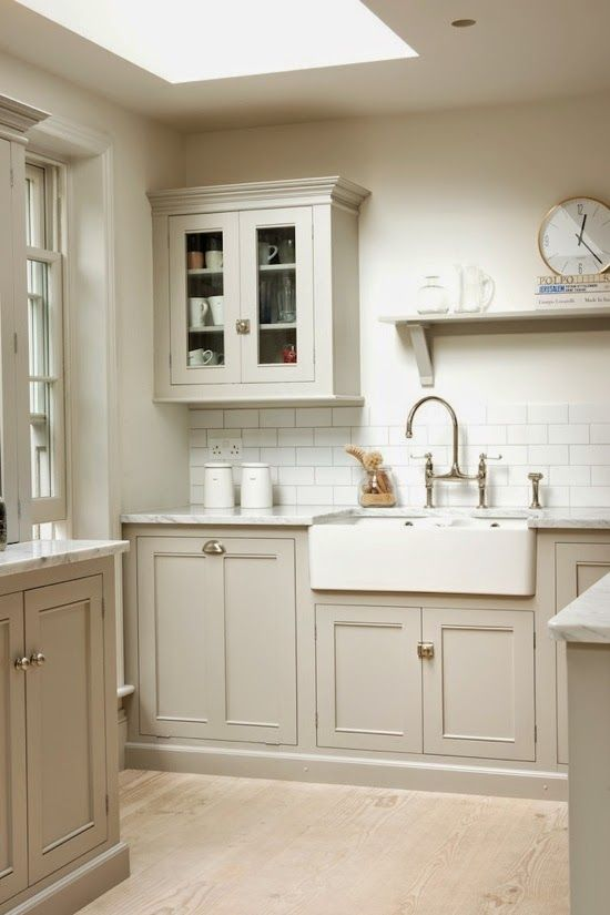 Neutral Kitchen Ideas Part - 35: The Pale Cream And Gentle Olive Undertones Of Our Worn Ivory Sandstone Look  Perfect In This Country Cottage Kitchen. The Neutral Scheme Gives Such U2026