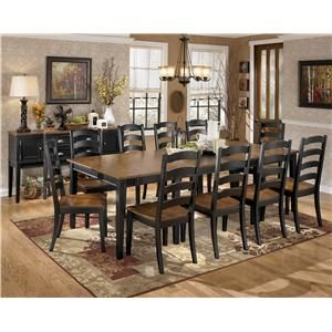 Giant Table Signature Design By Ashley Owingsville 11 Piece Dining Room Extension Table Set