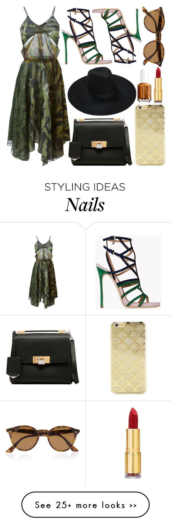 """♡"" by brenndha on Polyvore featuring Diesel, Dsquared2, Sonix, Balenciaga, Ray-Ban, Isaac Mizrahi, Essie, GetTheLook, gorgeous and Luxe"