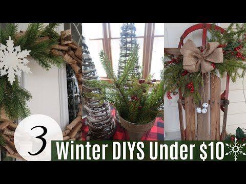 3 Rustic Farmhouse Winter Diys 1o Winter Diy Challenge Winter