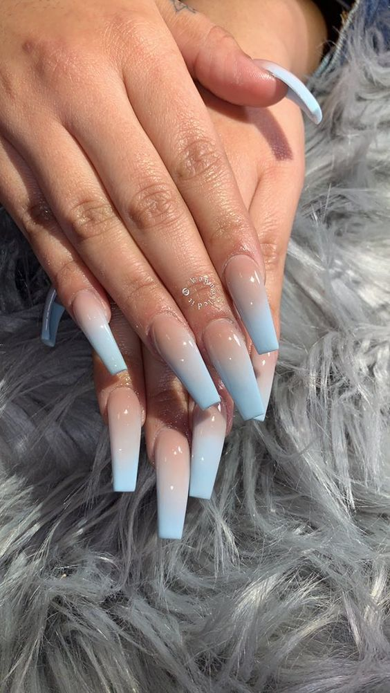 45 Simple Summer Nails Colors Designs 2019 Long Acrylic Nails
