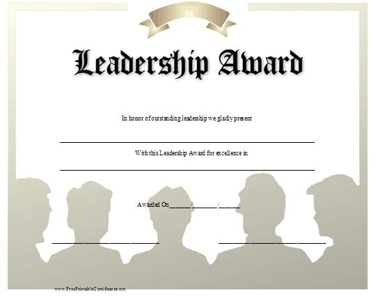 Leadership award template leadership award templates certificate images of pin leadership award certificate sc yadclub Gallery