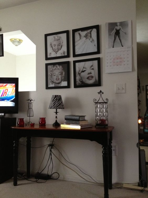 marilyn monroe and living rooms on pinterest