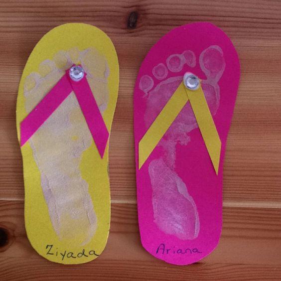Flip Flop Footprint Craft