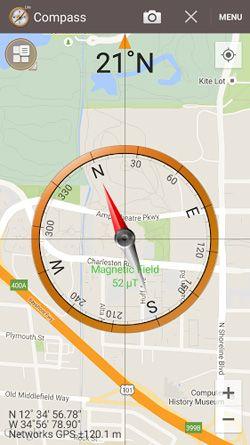 Η πυξίδα μπορεί να εμφανίζεται πάνω στο χάρτη στο σημείο που βρίσκεστε. Χρήσιμο!  www.lightgear.gr