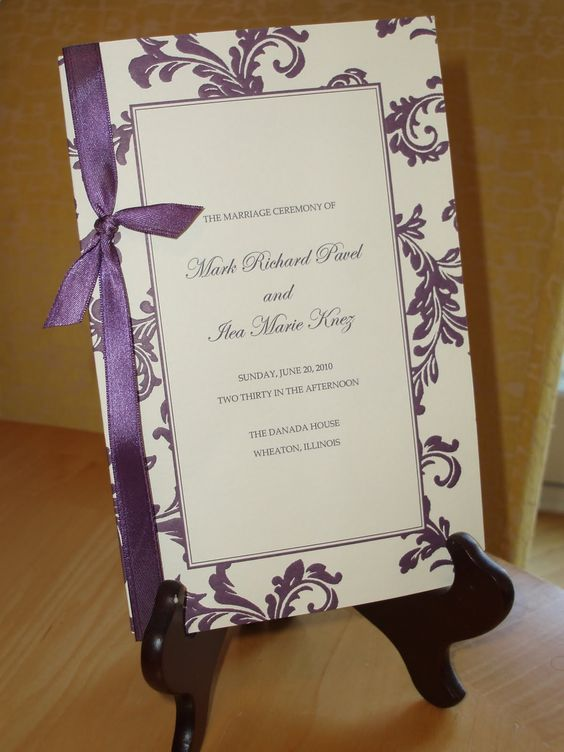 Bashert Weddings: Wedding Programs: why have them, what to include, and where to put them