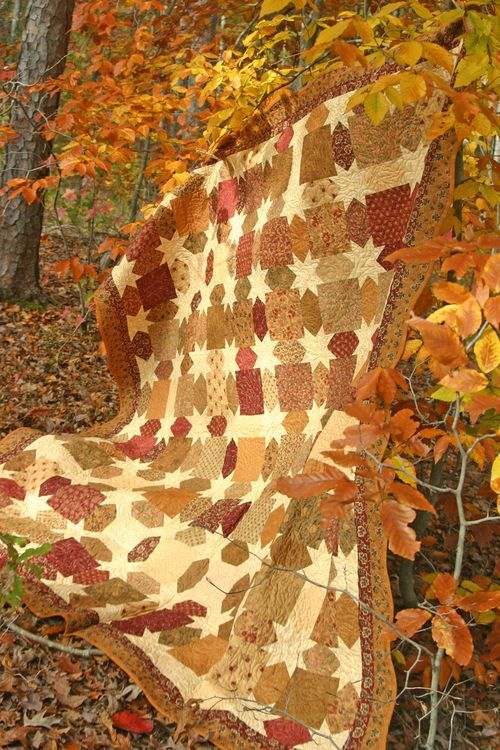 Blog fall harvest - morning glory quilt - full tutorial: