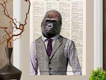 Gorilla,lord,stampa,illustrazione, 20×27cmA4