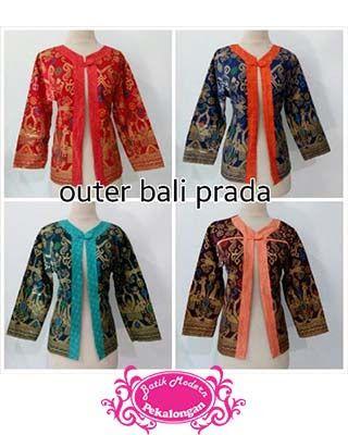 Blazer Batik Outer Bali Prada http://www.batikmodernpekalongan.com/2015/11/blazer-batik-outer-bali-prada-blb004.html