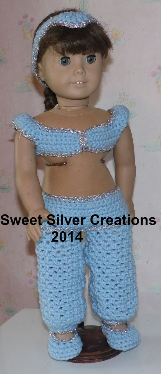 18 inch American Girl Crochet Pattern - Jasmin | Girls, Muster und ...