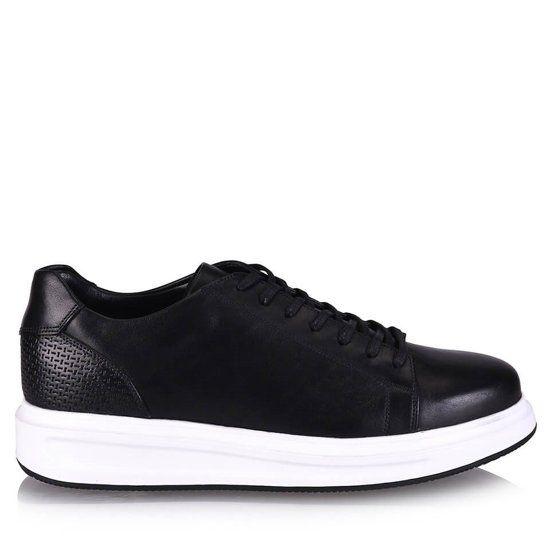 Hotic Hakiki Deri Siyah Kadin Ayakkabi Hakiki Deri Siyah Kadin Ayakkabi Hotic Kadin Http Www Black Sneaker All Black Sneakers Shoes