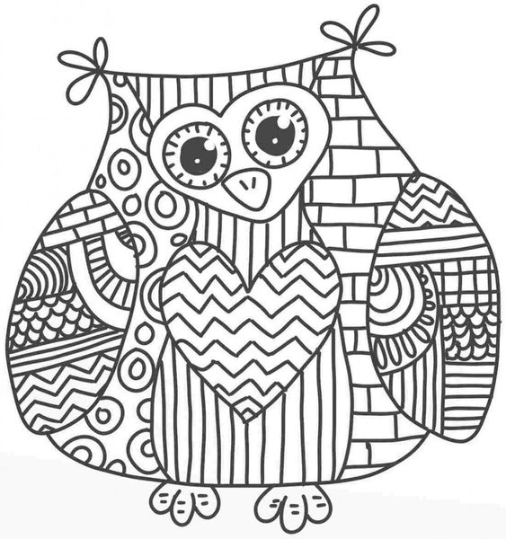 Adult Owl Colouring Pages Page 2