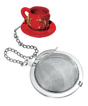 Teacup Mesh Ball Infuser  Teacup Mesh Ball Infuser  Make a statement with a fancy tea ball infuser! You can express yourself with every cup of tea!