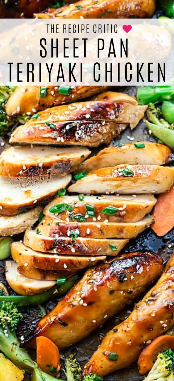 Is there anything better than making a meal on one pan? These sheet-pan dinners are easy to make on week nights or lazy days with minimal clean up required. sheet pan teriyaki chicken | sheet pan meals | one pan recipe | one pan meal | healthy sheet pan dinners | low carb sheet pan dinner #sheetpandinner #onepandinner